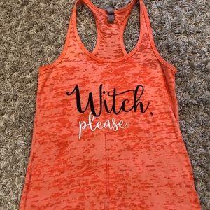 Halloween workout tank top